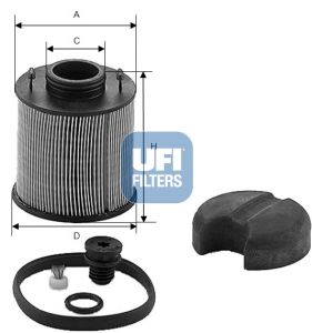 44.003.00 UFI Urea Filter: buy inexpensively