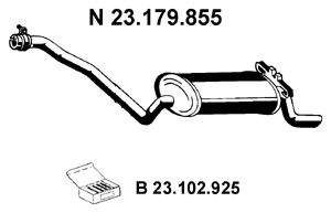 EBERSPÄCHER: Original Endschalldämpfer 23.179.855 (Länge: 1270mm, Länge: 1270mm)