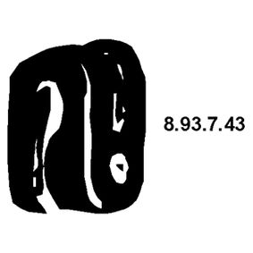 8.93.7.43 EBERSPÄCHER Haltering, Schalldämpfer 8.93.7.43 günstig kaufen