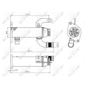 48006 Kühler, Abgasrückführung NRF in Original Qualität