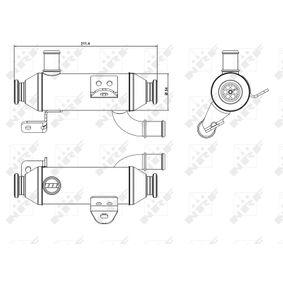 48008 Kühler, Abgasrückführung NRF in Original Qualität