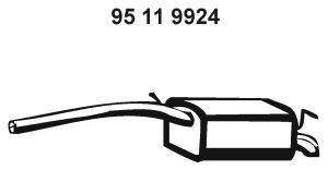 Original MINI Endtopf 95 11 9924
