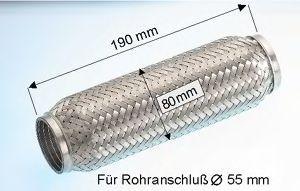 Flexstück Auspuff Mercedes W202 1998 - EBERSPÄCHER 99.006.79 ()