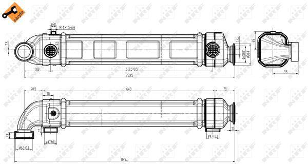 48301 NRF mit Befestigungsmaterial, ohne AGR-Ventil, EASY FIT AGR-Modul 48301 günstig kaufen