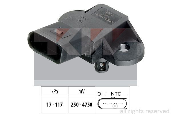 EPS1993072 KW Made in Italy - OE Equivalent Sensor, Saugrohrdruck 493 072 günstig kaufen