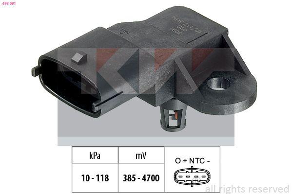 Sensor, Saugrohrdruck KW 493 091