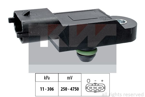 Sensor, Saugrohrdruck KW 493 121