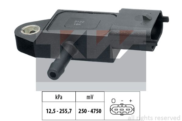 Sensor, Saugrohrdruck KW 493 122