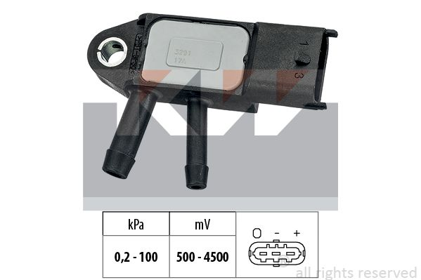 NISSAN NV200 2016 Sensor, Saugrohrdruck - Original KW 493 291