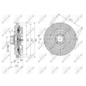 49593 Lüfterkupplung NRF 49593 - Große Auswahl - stark reduziert