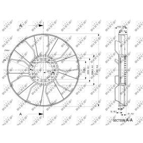 49843 Lüfterrad, Motorkühlung NRF online kaufen