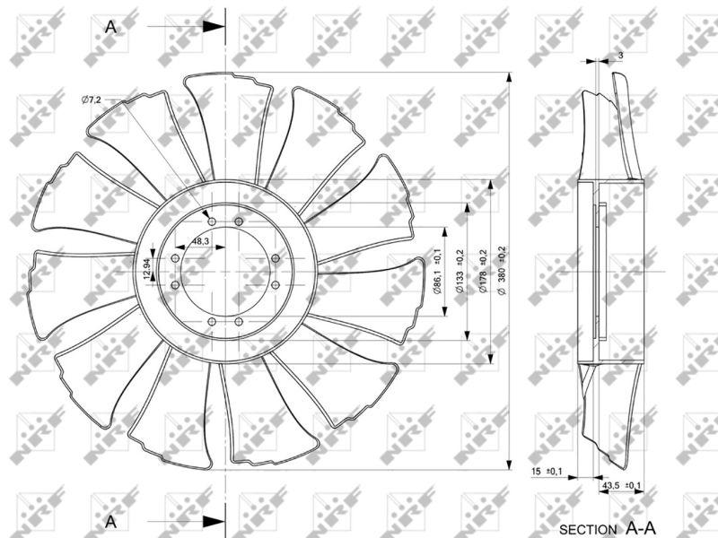 NRF   Lüfterrad, Motorkühlung 49846