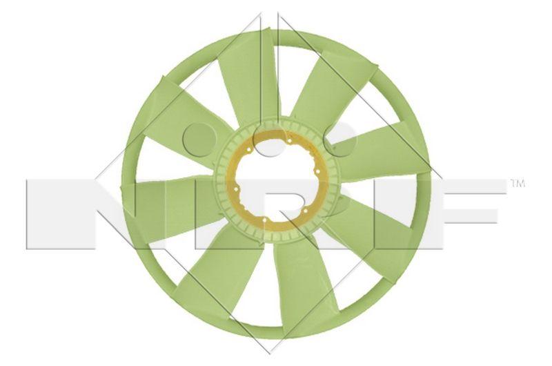 NRF Lüfterrad, Motorkühlung passend für MERCEDES-BENZ - Artikelnummer: 49851