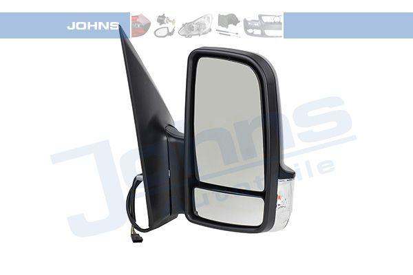 50 64 38-25 JOHNS rechts, schwarz, beheizbar, für elektr.Spiegelverstellung, konvex, kurzer Spiegelarm, mit Weitwinkelspiegel Außenspiegel 50 64 38-25 günstig kaufen