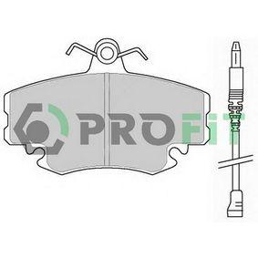 5000-0845 PROFIT Vorderachse, mit integriertem Verschleißsensor Höhe: 65mm, Dicke/Stärke: 18mm Bremsbelagsatz, Scheibenbremse 5000-0845 günstig kaufen