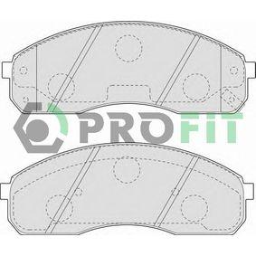 5000-1595 PROFIT Vorderachse Höhe: 56,2mm, Dicke/Stärke: 17,5mm Bremsbelagsatz, Scheibenbremse 5000-1595 günstig kaufen