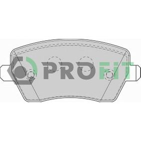 5000-1617 PROFIT Vorderachse Höhe: 52,3mm, Dicke/Stärke: 16,8mm Bremsbelagsatz, Scheibenbremse 5000-1617 günstig kaufen