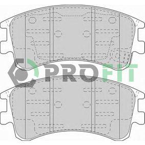 5000-1619 PROFIT Vorderachse, mit integriertem Verschleißsensor Höhe: 59,5mm, Dicke/Stärke: 19mm Bremsbelagsatz, Scheibenbremse 5000-1619 günstig kaufen