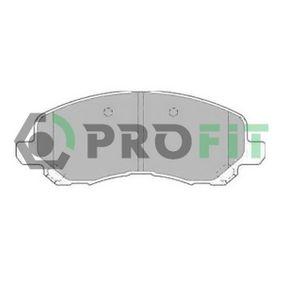 5000-1621 PROFIT Vorderachse Höhe: 58mm, Dicke/Stärke: 16,5mm Bremsbelagsatz, Scheibenbremse 5000-1621 günstig kaufen