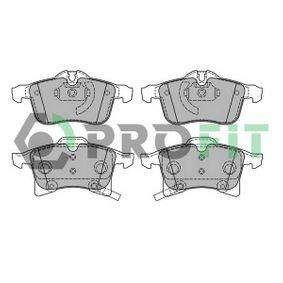 5000-1640 PROFIT Vorderachse, mit integriertem Verschleißsensor Höhe 1: 70,1mm, Höhe 2: 76mm, Dicke/Stärke: 20,4mm Bremsbelagsatz, Scheibenbremse 5000-1640 günstig kaufen