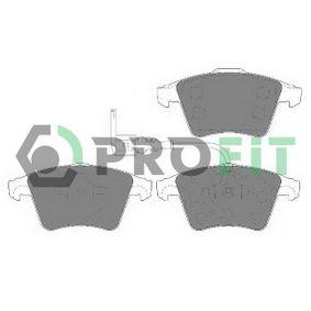 5000-1642 PROFIT Vorderachse, mit integriertem Verschleißsensor Höhe 1: 75mm, Höhe 2: 73,2mm, Dicke/Stärke 1: 18,5mm, Dicke/Stärke 2: 19,8mm Bremsbelagsatz, Scheibenbremse 5000-1642 günstig kaufen