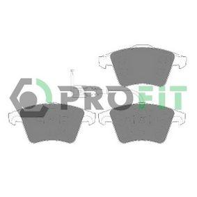 5000-1643 PROFIT Vorderachse, mit integriertem Verschleißsensor Höhe 1: 74,85mm, Höhe 2: 73,35mm, Dicke/Stärke 1: 18,2mm, Dicke/Stärke 2: 17,7mm Bremsbelagsatz, Scheibenbremse 5000-1643 günstig kaufen