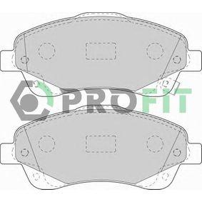 5000-1648 PROFIT Vorderachse, mit integriertem Verschleißsensor Höhe: 62,7mm, Dicke/Stärke: 18,6mm Bremsbelagsatz, Scheibenbremse 5000-1648 günstig kaufen