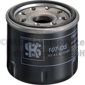 107OS KOLBENSCHMIDT Filtro aparafusado, com uma válvula de retenção Diâmetro interior 2: 55mm, Diâmetro exterior 2: 65mm, Altura: 75mm Filtro de óleo 50013107 comprar económica