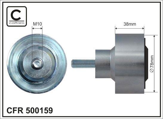 CAFFARO Medløberhjul, multi-V-rem til DAF - vare number: 500159
