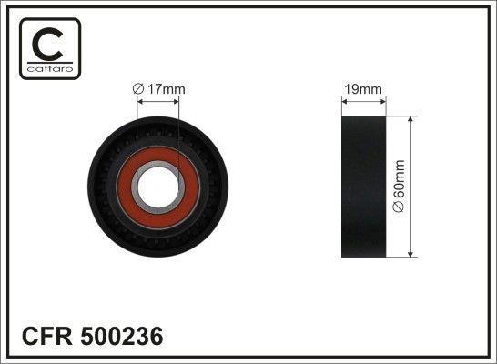 CAFFARO: Original Spannrolle Keilrippenriemen 500236 (Breite: 19mm)