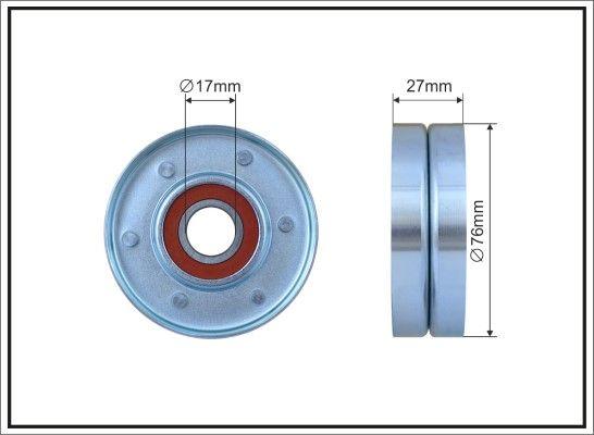 CAFFARO: Original Spannrolle Keilrippenriemen 500316 (Breite: 27mm)