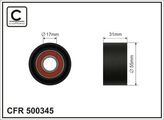 BMW i8 Spannrolle - Original CAFFARO 500345 Breite: 31mm