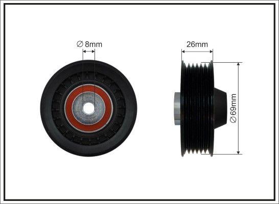 CAFFARO Poulie renvoi / transmission, courroie trapézoïdale à nervures 500360