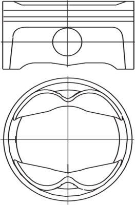 MAHLE ORIGINAL: Original Motor Kolben 503 PI 00101 000 ()