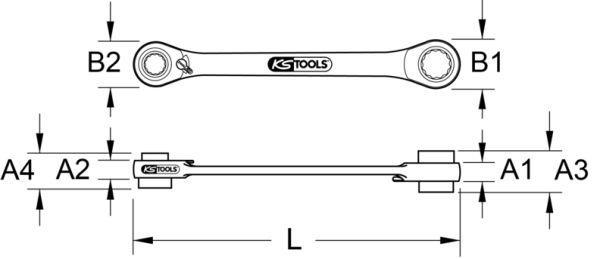 5034565 Ratschen-Doppelringschlüssel KS TOOLS 503.4565 - Original direkt kaufen