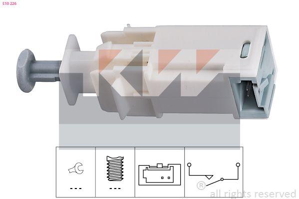 EPS1810226 KW Made in Italy - OE Equivalent Schalter, Kupplungsbetätigung (GRA) 510 226 günstig kaufen