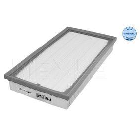 Pirkti MAF0567 MEYLE filtro įdėklas, MEYLE-ORIGINAL Quality ilgis: 348mm, plotis: 184,5mm, aukštis: 49mm Oro filtras 512 918 6262 nebrangu