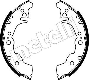 OE Original Bremsbackensatz für Trommelbremse 53-0043 METELLI