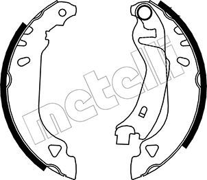 Original FIAT Bremsklötze für Trommelbremse 53-0066