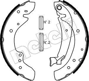 53-0072 METELLI mit Zubehör Breite: 57mm Bremsbackensatz 53-0072 günstig kaufen