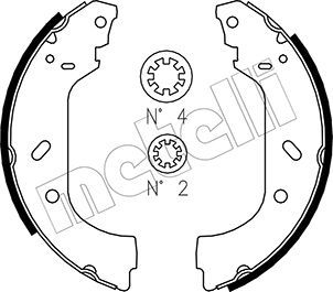 Original FIAT Bremsbacken für Trommelbremse 53-0074