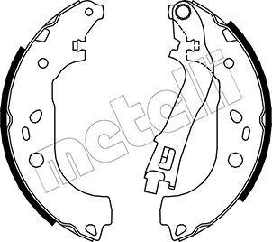 OE Original Bremsklötze für Trommelbremse 53-0088 METELLI