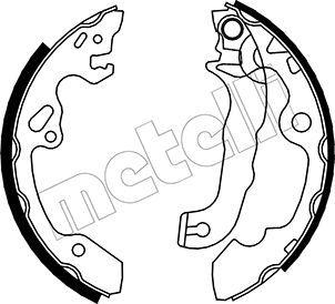 OE Original Bremsbackensatz für Trommelbremse 53-0133 METELLI