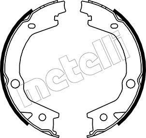 S845 METELLI Breite: 27mm Bremsbackensatz, Feststellbremse 53-0184 günstig kaufen