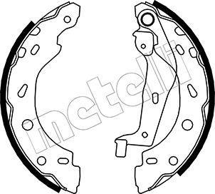OE Original Bremsklötze für Trommelbremse 53-0237 METELLI