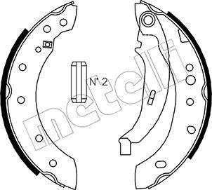 OE Original Bremsbacken für Trommelbremse 53-0332 METELLI