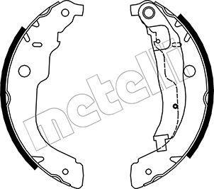 OE Original Bremsbeläge für Trommelbremsen 53-0333 METELLI