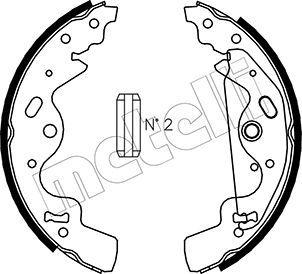 METELLI: Original Bremsbackensatz 53-0370 (Breite: 45mm)