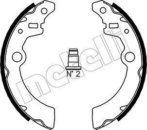 Original TALBOT Bremsklötze für Trommelbremse 53-0404