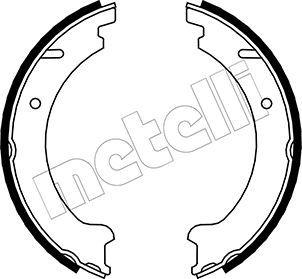 S820 METELLI Ø: 177,8mm, Breite: 25mm, Ø: 177,8mm Bremsbackensatz, Feststellbremse 53-0478 günstig kaufen